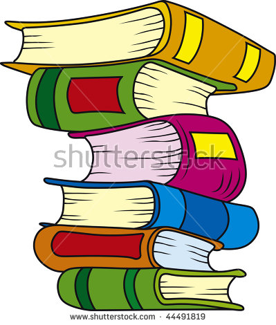 Cartoon Stack Of Books Stock Images, Royalty.