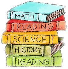 Stack Of Books Cartoon.
