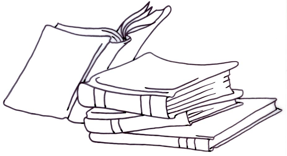 Books Clipart Black And White & Look At Clip Art Images.