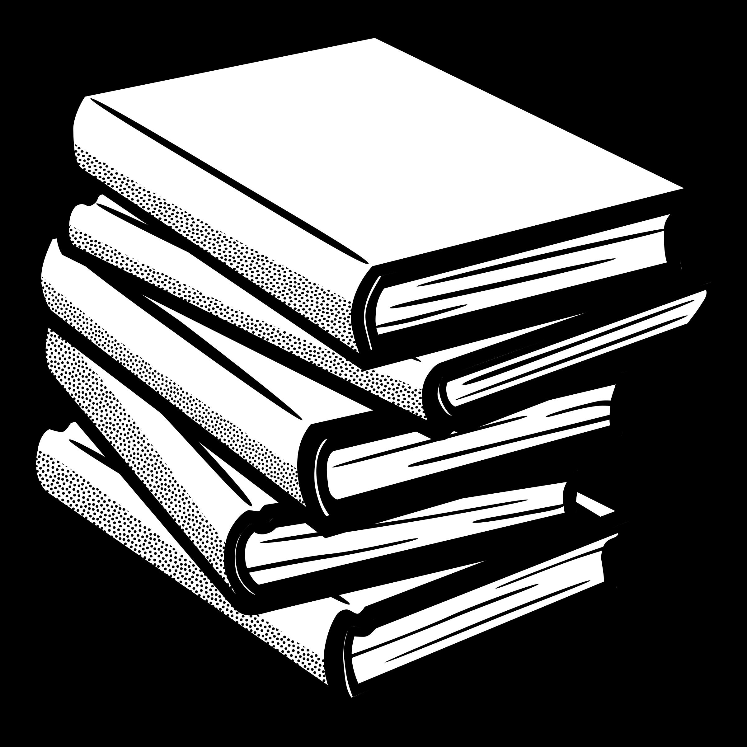 Book Black and White Clip art.