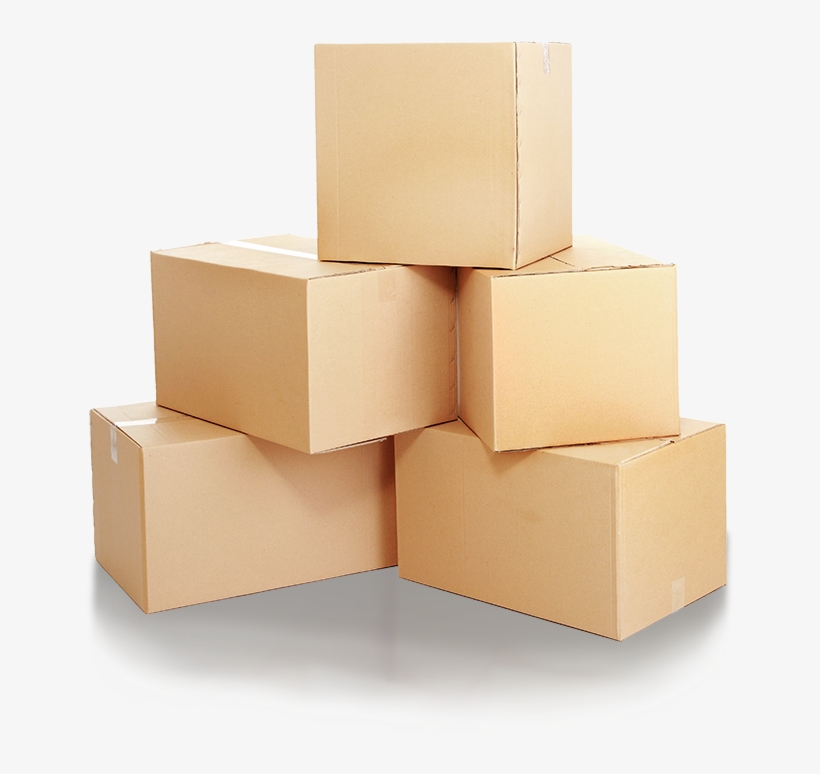 "Stack Of Brown Boxes ""."