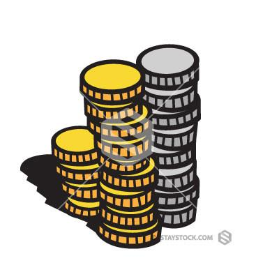 Coins Stack Clipart.