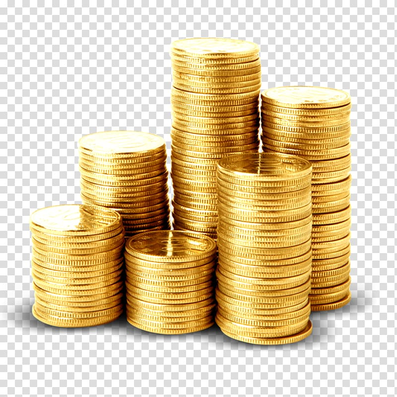 Stack of gold coins, 2 Colors Money Coin Icon, Pile of gold.