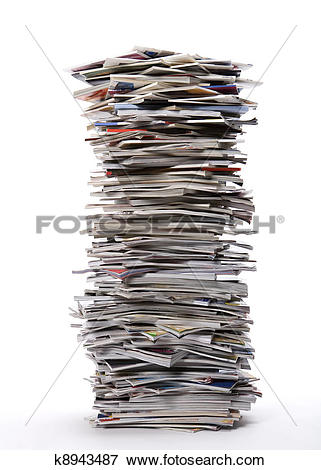Picture of Stack of Magazines k8943487.