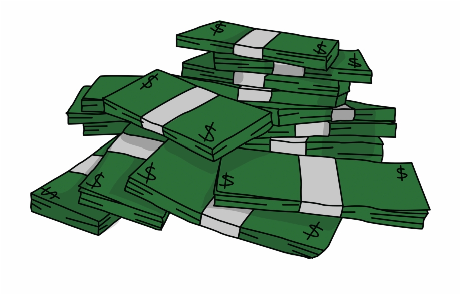 Free Stacks Of Money 2 High Resolution Clip Art.
