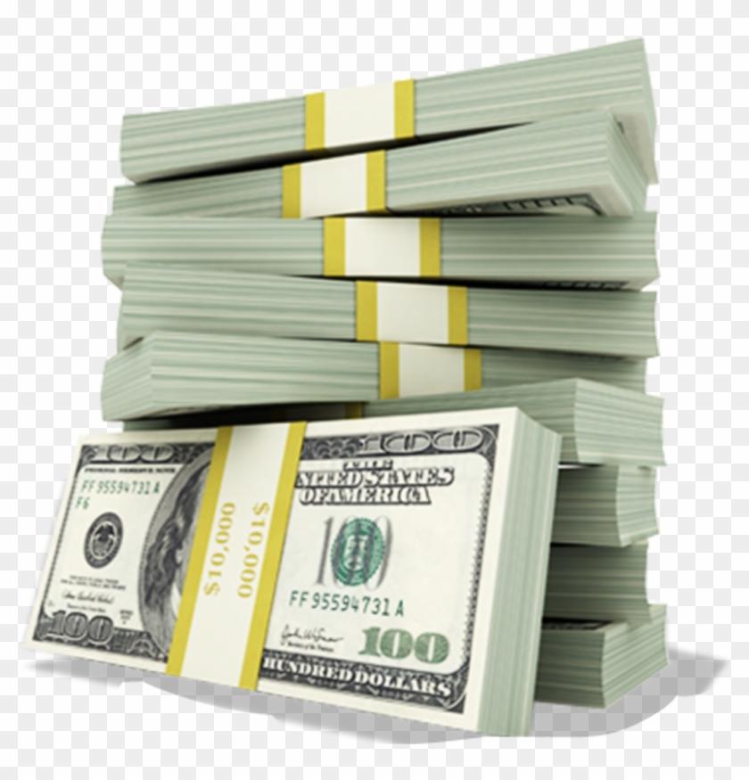 Stacks Racks Hundreds Cash Money.