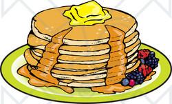 10+ Pancakes Clipart.