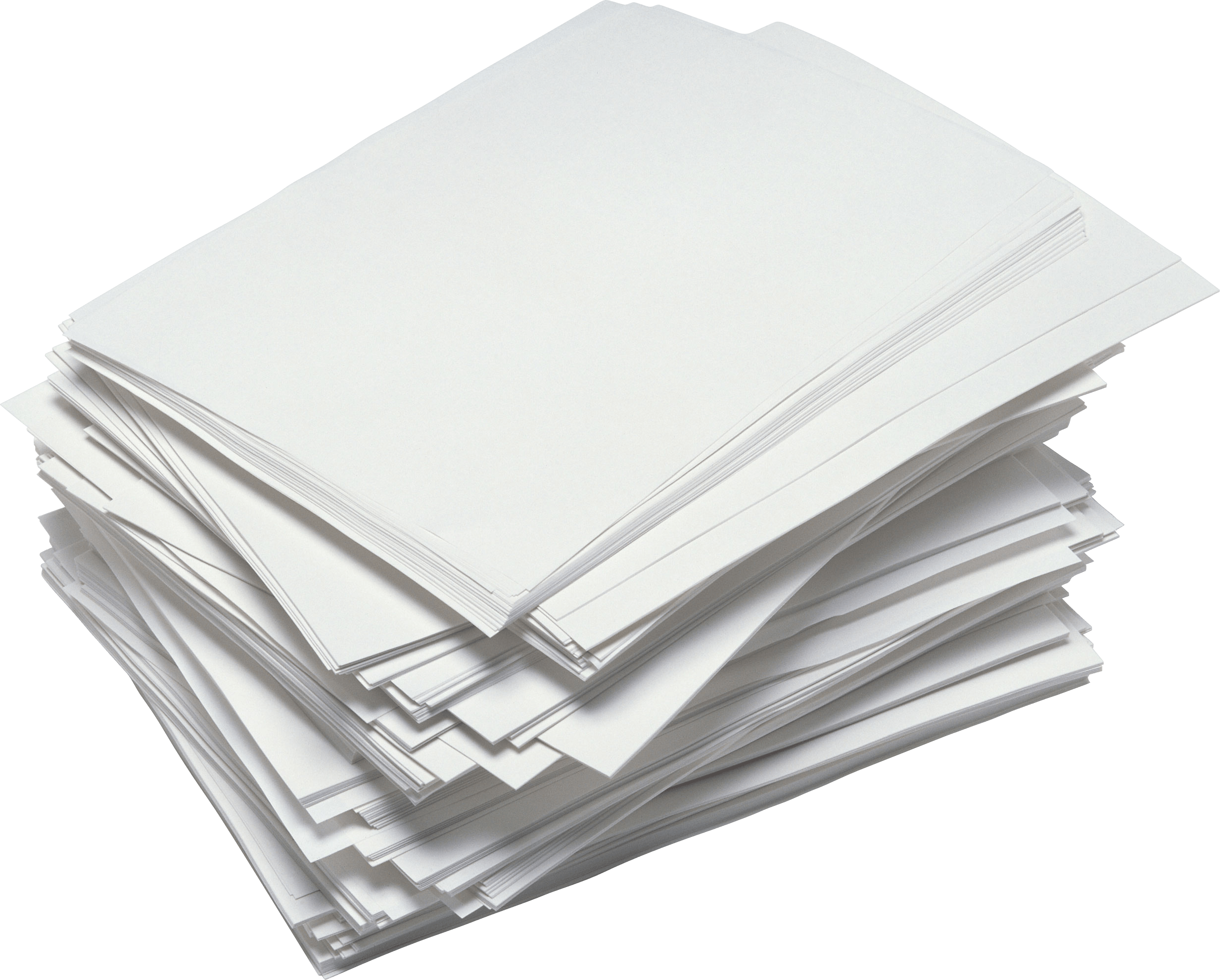 Messy Paper Stack transparent PNG.