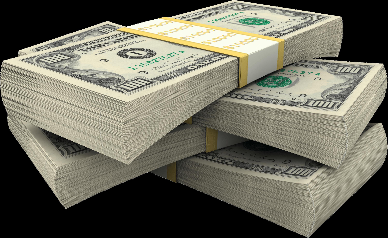Stack Of Dollar Bills Money transparent PNG.