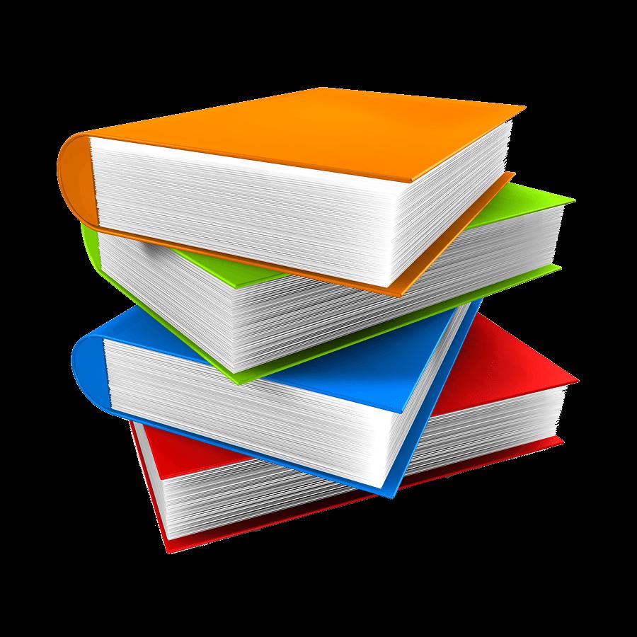 Book Stack transparent PNG.