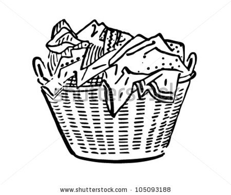 Laundry Basket Stock Images, Royalty.