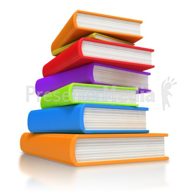 Stacked Library Books Clip Art Free.