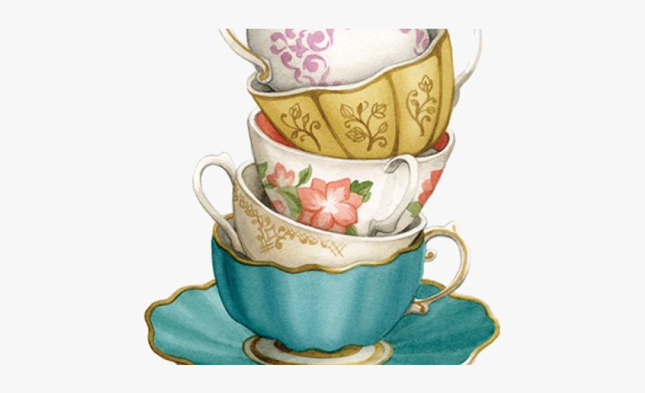 Tea Cup Clipart Stack Dish.