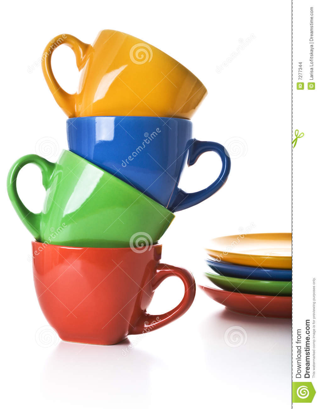 Stacked Tea Cup Clip Art.