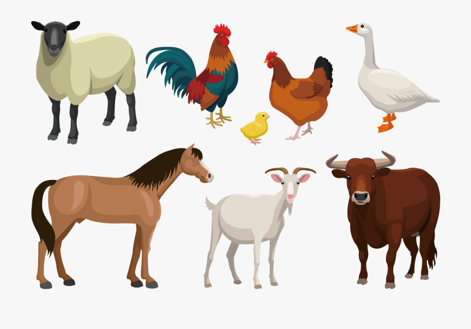 Stacked Farm Animals Clipart.