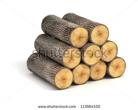 Vector Images, Illustrations and Cliparts: stack of firewood logs.