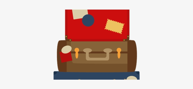 Suitcase Drawing Stacked.