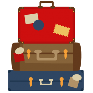 Stacked Luggage Clipart.