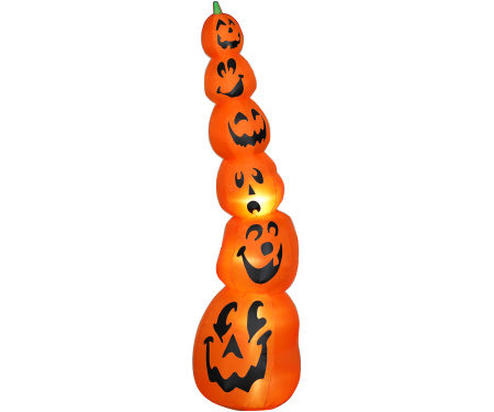 Pumpkin Stack Slender Gemmy Giant Airblown Inflatable 9ft tall.