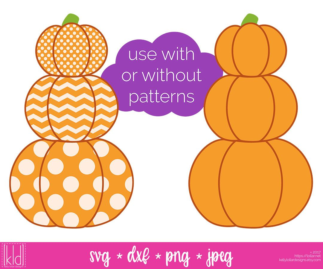 Love this Stacked Pumpkin svg file! use without with.