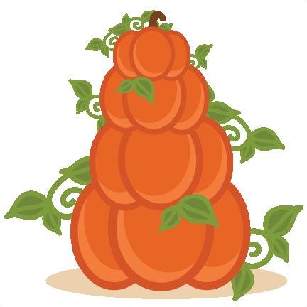Stacked Pumpkins free svg cut file free cut files cute.