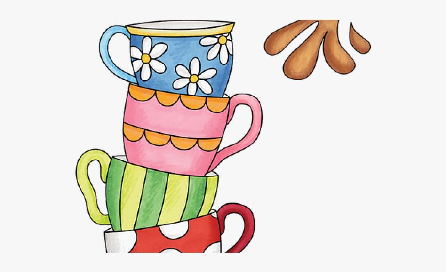 Tea Clipart Colorful Coffee Mug.