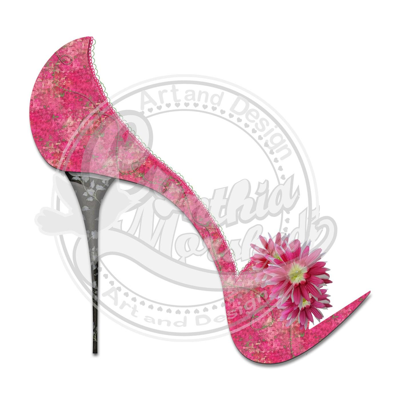 Pink heels.