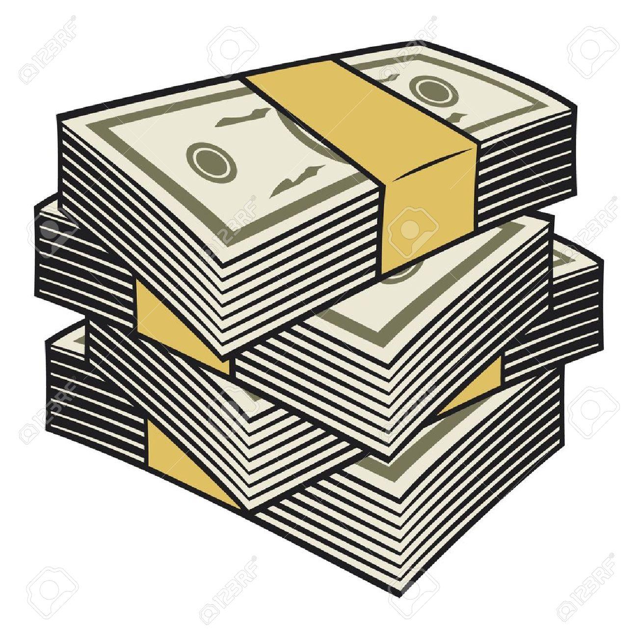 Money Stacks Clipart.