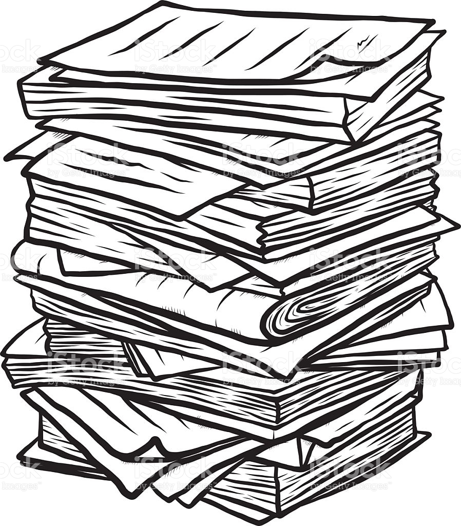 Pile Of Paper Clipart.