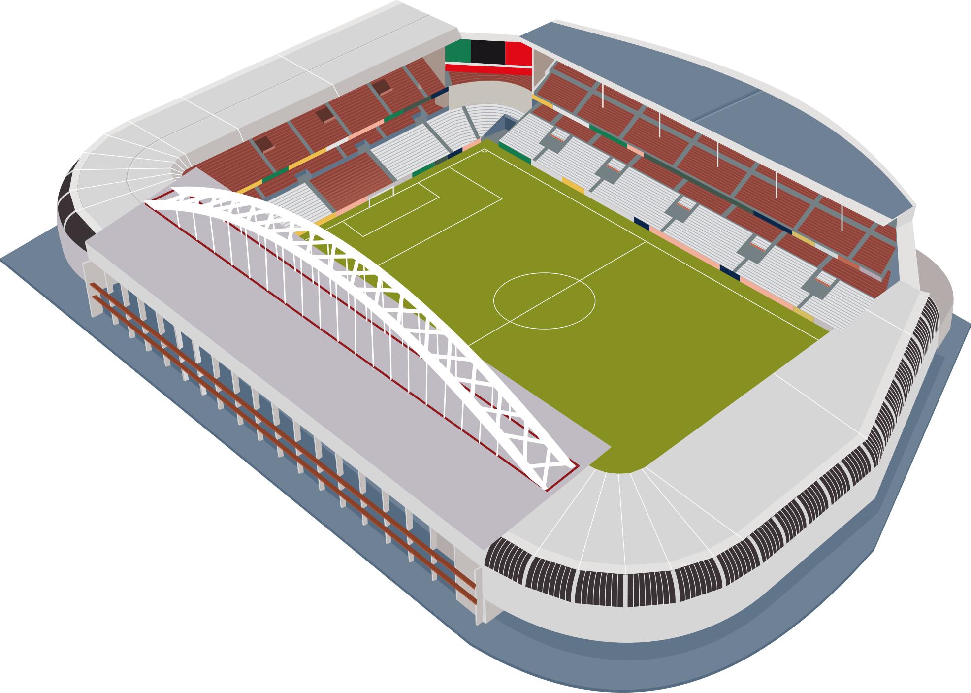 Football field football stadium clipart.