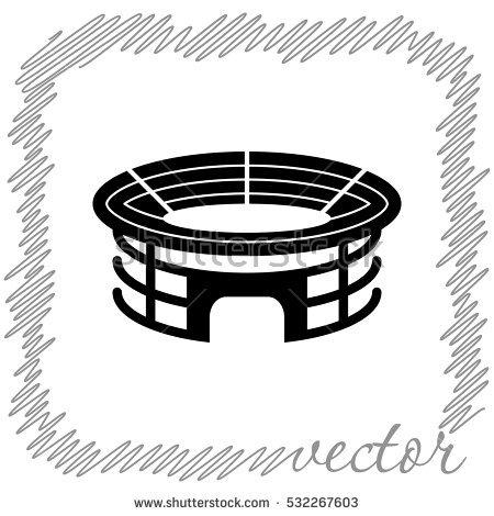 Stadium Vector Icon Stock Vector 451751533.