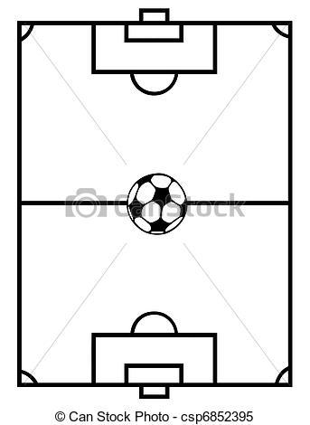 Clipart Vector of Soccer Field.