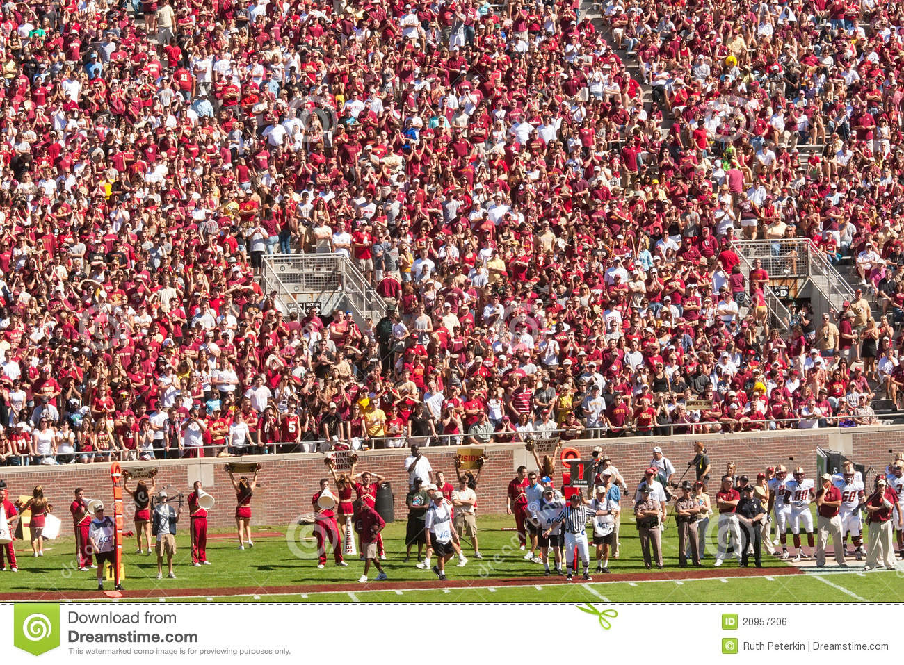 Campbell Crowd Doak Florida Football Out Sold Stadium.