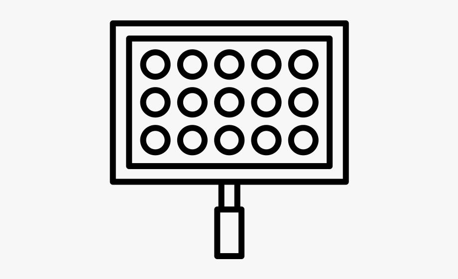 Stadium Lights Rubber Stamp.