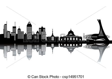 Montreal skyline clipart.