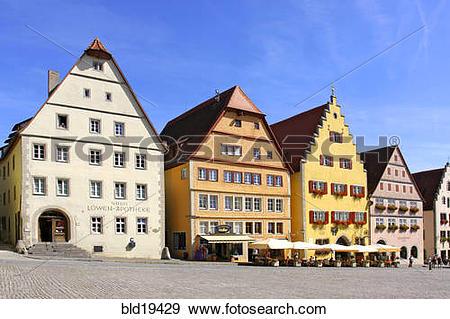 Stock Photograph of Germany, Bavaria, Rothenburg ob der Tauber.