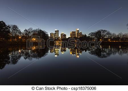 Stock Fotografie von Stadtmitte, Atlanta, Nacht, reflektiert, in.