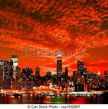 Bilder von Stadt, Skyline, york, neu, Stadtmitte.