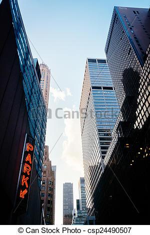 Stock Fotografie von Wolkenkratzer, Stadtmitte, straße, york, neu.