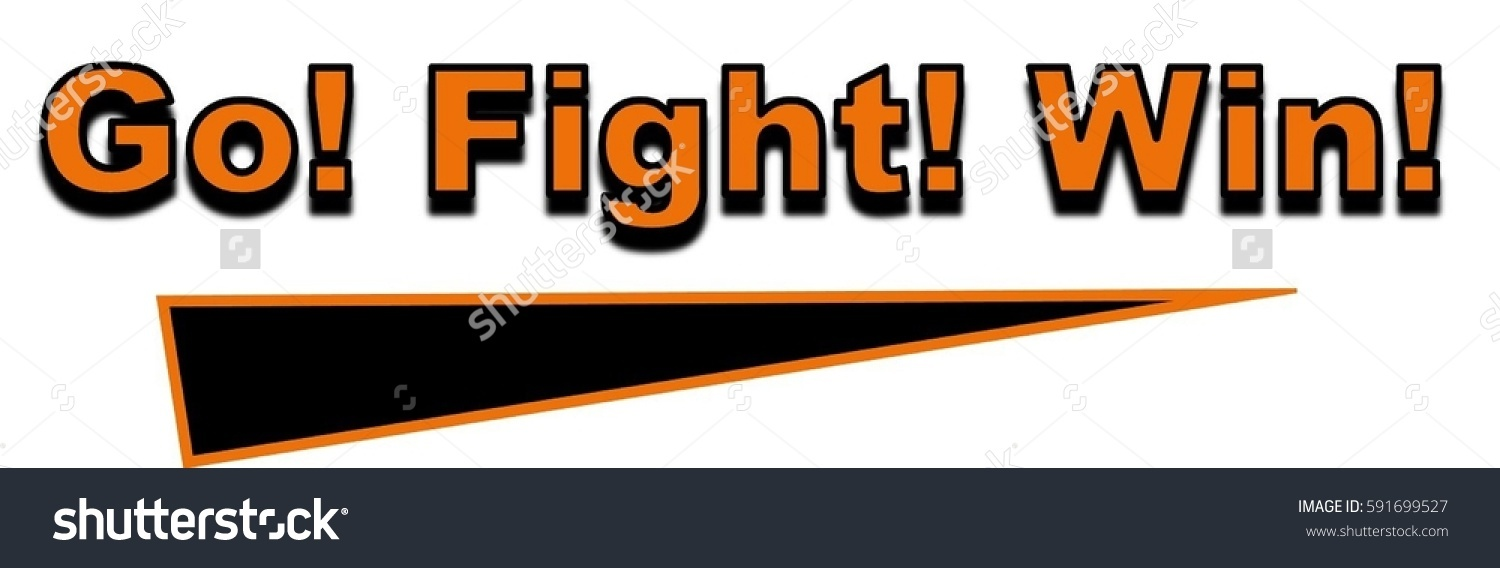 Go Fight Win Word Clipart Stock Illustration 591699527.