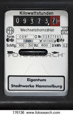 Stock Images of German electricity meter 176136.