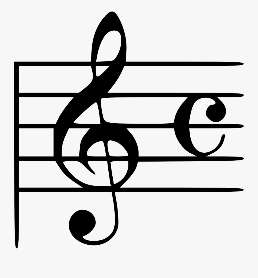 Transparent Music Notes On Staff Clipart.