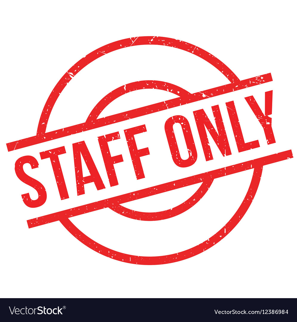 Staff Only rubber stamp.