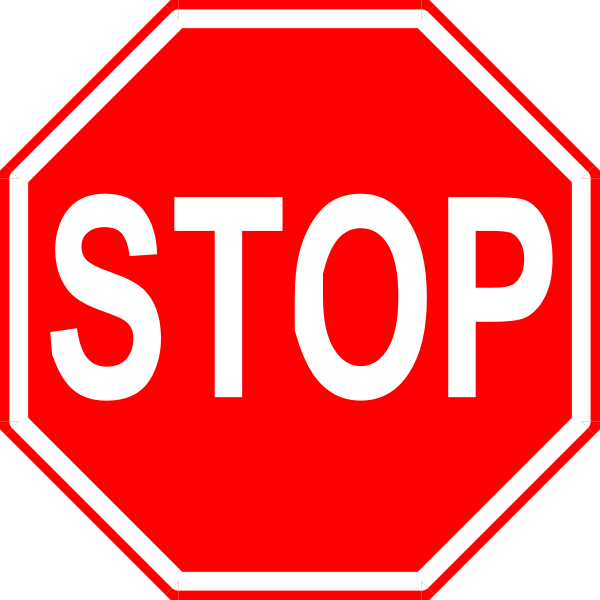 Stop Sign Clip Art Staff Only.
