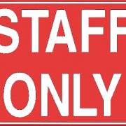 Staff Only Sign PNG Clipart.