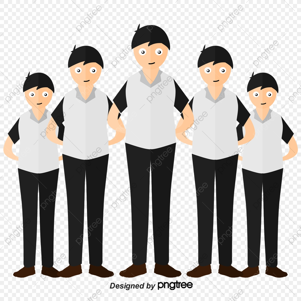Working Staff, White Collar, Staff, Crowd PNG and Vector.