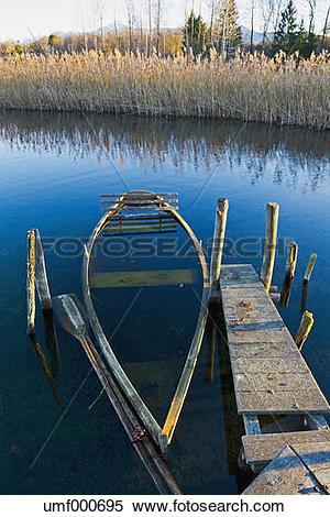 Stock Image of Germany, Bavaria, Upper Bavaria, Lake Staffelsee.