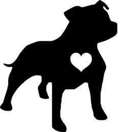 Image result for staffy silhouette.