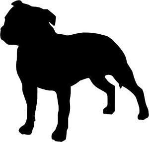 Dog clip art staffy.