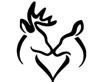 Buck And Doe Clipart.
